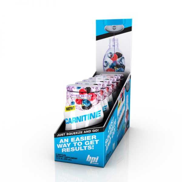 BPI Sports Carnitine Liquid Water Enhancers Mixed Berry