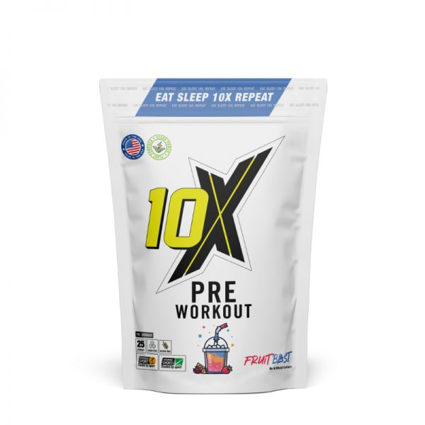 10X Athletic Vegan Pre Workout Fruit Blast